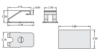 2901-02 PCB spring contact technical drawing