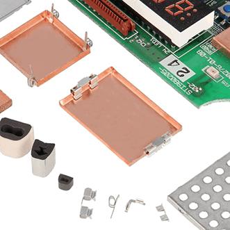 PCB kutuları, contalar, gövdeler, topraklama klipsleri ve panoları