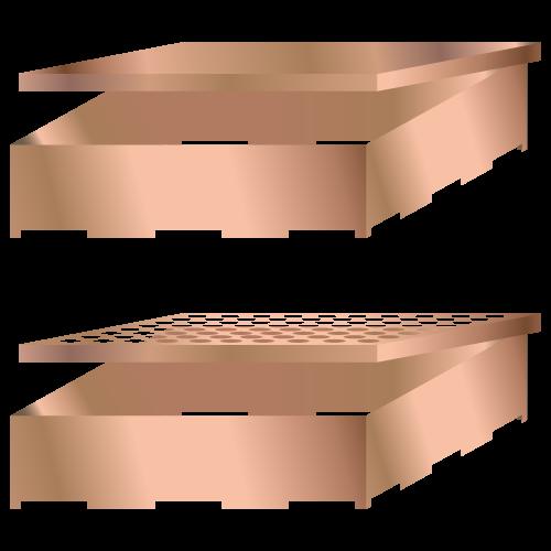 Çıkarılabilir kapaklı sabit PCB koruyucu metal kutular