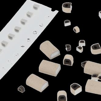 İletken kauçuk PCB ekranlama contaları