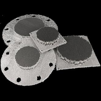Çerçevesiz petek havalandırma panelleri