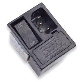 Entegre 2 kutuplu ve 2 sigortalı güç hattı filtresi