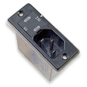 2 sigortalı güç hattı filtresi ve 2 yollu voltaj seçici