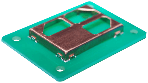 RF shielding clip | Tiny corner clip for PCB shielding cans