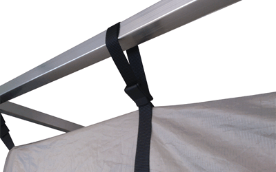 Faraday shielded tent Adjustable robe to frame